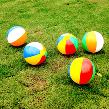 1Pc Rubber Ball Toys For Baby Beach Pool Play Ball Outdoor Inflatable Children Soft Learning Toys PVC Soft Water Toys For Kids(China)