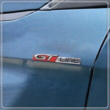 Для peugeot 208 308 408 2008 3008 4008 5008 стайлинга автомобилей сзади наклейка на багажник сбоку эмблемы GT линии стикеры металлический автомобиль интимные аксессуары