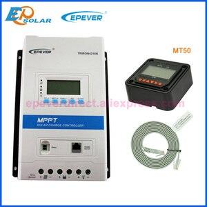 Image 4 - Контроллер солнечной зарядки EPever TRIRON 4210N 4215N 40A 12 В 24 В, ЖК Модульный солнечный регулятор, зарядное устройство 40 А с MT50 eBox WIFI BLE