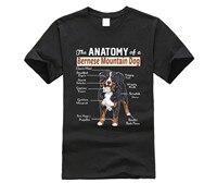 Новинка 2019 модная мужская футболка высокого качества хипстерские футболки Анатомия Бернская горная Футболка с принтом собаки футболки