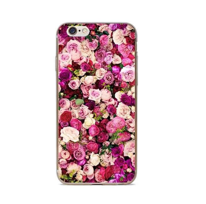 Чехол силиконовый с индивидуальным дизайном «Розовые розы II» для iPhone