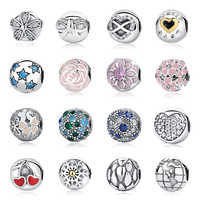 Real 925 Sterling Silver 2018 Aliexpress Hot Sale Clip Charms Stopper Safety Beads Fit Original Pandora Bracelets DIY Jewelry