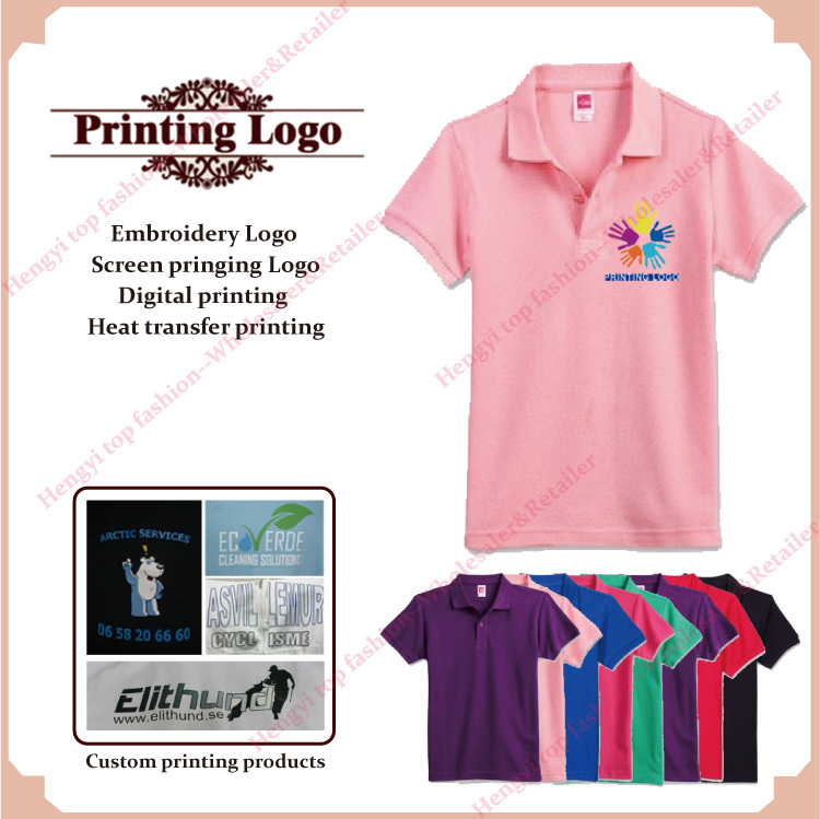 c962844c7 Promotion customized print design personalized logo polo shirts women tee  tops shirts 100% cotton casual wear custom clothing-in Polo Shirts from  Women's ...
