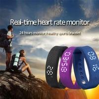 Nieuwste Beste Prijs Smart Armband 3D Stappenteller Slaap Tracker Hartslagmeter Smart band Gratis Verzending NOM23