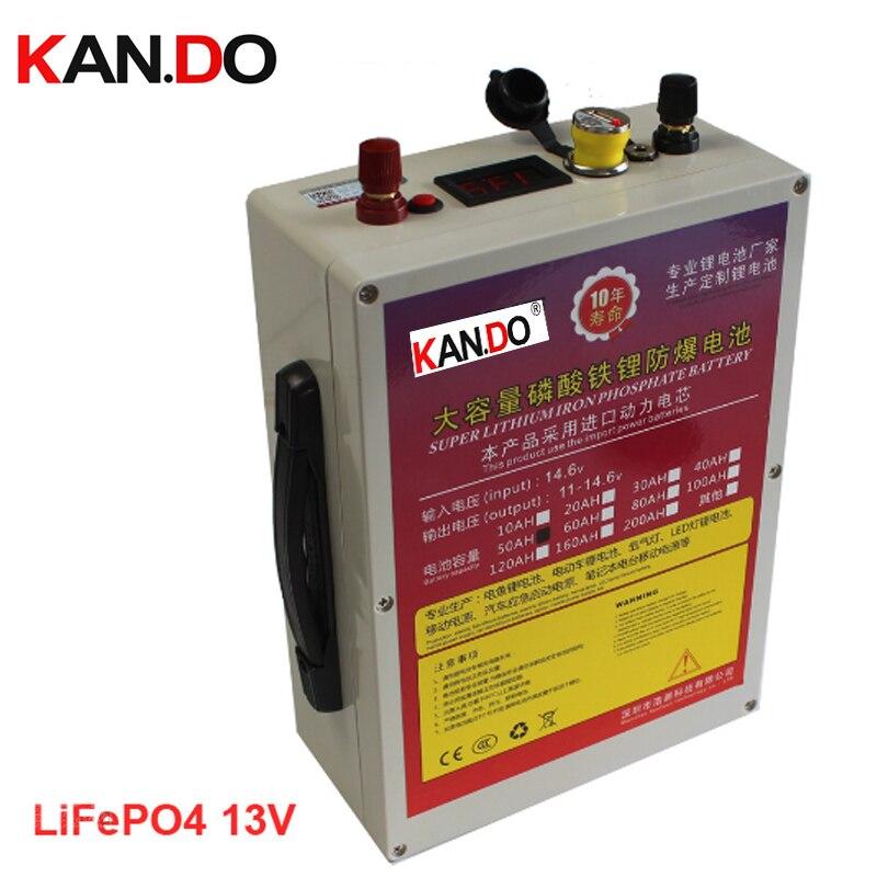 Batería impermeable del fosfato del hierro del ithium de la energía de arranque del motor del coche 13v batería del salto del coche 50AH batería del paquete LiFePO4 batería