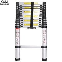 3.8M 13 Steps Portable Telescopic Ladder Folding Ladders Retractable Multifunctional Telescopic Single Straight Extension Exten