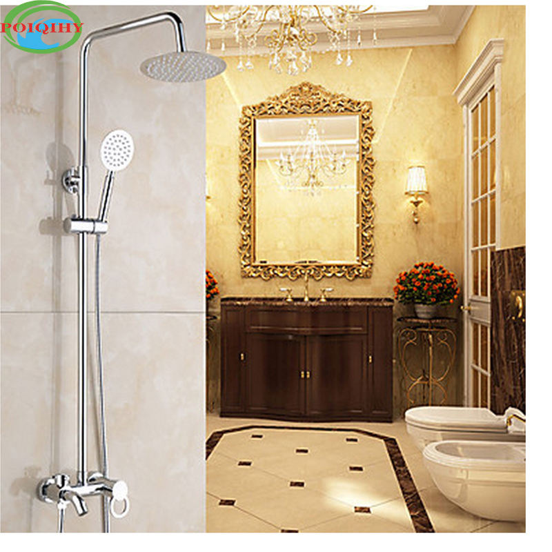 Chrome Finished Bathroom Shower Mixer Tap Shower Faucet Set Single Handle Centerset Waterfall Rotatable with Ceramic Valve ceramic single handle bathroom vanity sink mixer tap chrome finished