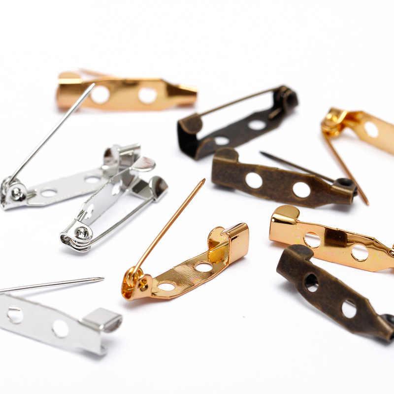 50 Buah 20/25/30 Mm Temuan Perhiasan Bros Pin Dasar Kosong Pengaturan Bros Pin untuk Membuat Fashion hadiah Perhiasan DIY Aksesoris