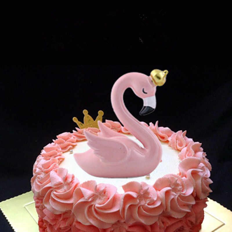 Ins flamingo decoração para sala de estar romatic festa de casamento ornamento acessórios decoração do bolo de aniversário fontes de festa
