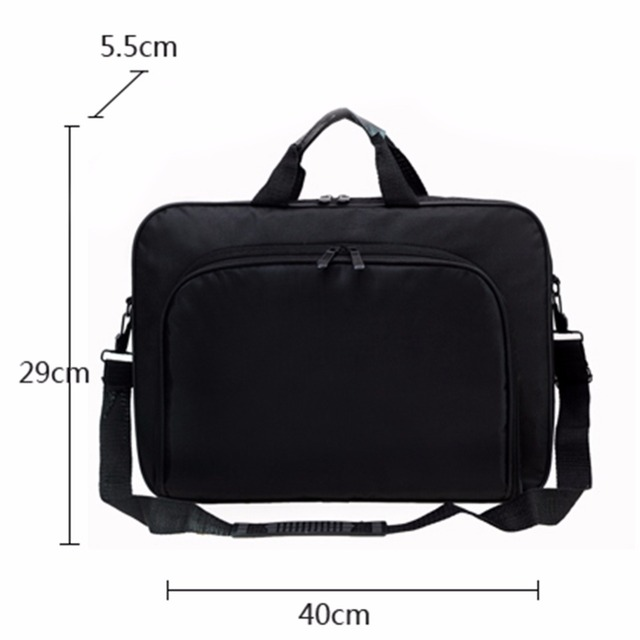 VODOOL bolsa para ordenador portátil, bolso de negocios de nailon, con cremallera, para hombro, alta calidad