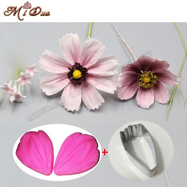 Daisy Petal Silicone Veiner Cutter Flower Petal Cutter Fondant