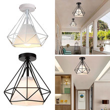 Recessed Ceiling Lights Iron Chandelier Minimalist E27 Black Romantic Metal Fashion Retro
