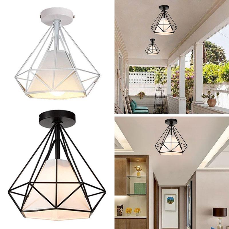 Recessed Ceiling Lights Iron Ceiling Lights Chandelier Minimalist E27 Black Romantic Metal Ceiling Lights Fashion Retro