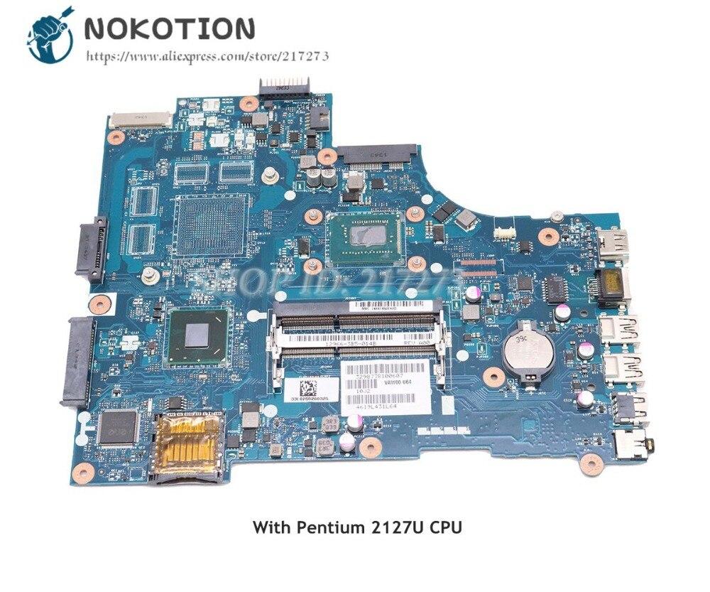 NOKOTION Pour Dell inspiron 15 3521 5521 pc Carte Mère VAW00 LA-9104P 03H0VW 3H0VW SR105 Avec Pentium 2127U CPU