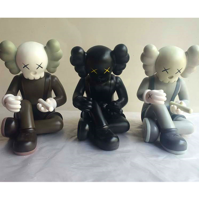 Фото 1pc/lot Original Fake Toys 3 Colors Black/Grey/Brownl KAWS OriginalFake This Is Not A Toy 22CM PVC Action Figure Toys With Box
