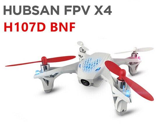 Original Hubsan X4 H107D BNF (sans transmetteur) 4CH 6 axes quadrirotor sans télécommande comprend batterie et chargeur
