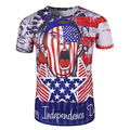 Новое Прибытие Лето Мужчины 3D Печати Личность Футболка США Патриот Стиль Дизайна Моды Мужчины День Независимости футболки