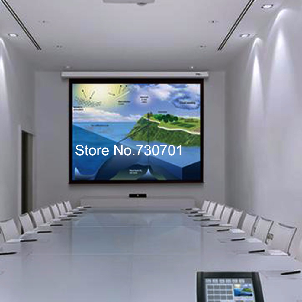 Electric Projector Screen / Motorized Projector Screen /Automatic Projector Screen 10016:9 Wall Mounted