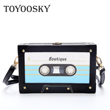 TOYOOSKY Personality Tape Shape Womens Handbags Vintage Clutch Women Messenger Bag Acrylic Purse Bolsos Mujer Evening Party