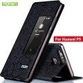 """Huawei p9 case capa silicone voltar huawei p9 case original mofi virar carteira de couro da tampa de alumínio case foundas huaweip9 5.2"""""""