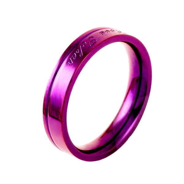 BG-30 Fashion Style Stainless Steel Party Ring Men/Women Gift Ring Ceramic Setting Lover/Couple Engagement Ring Jewelry