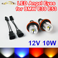 2 Unidades (1 Unidades) 2*5 W 10 W Bridgelux LED Salta el led Marcador Angel Eyes Blanco Azul rojo Amarillo Color para BMW E39 E53 E60 E61 E63 E64