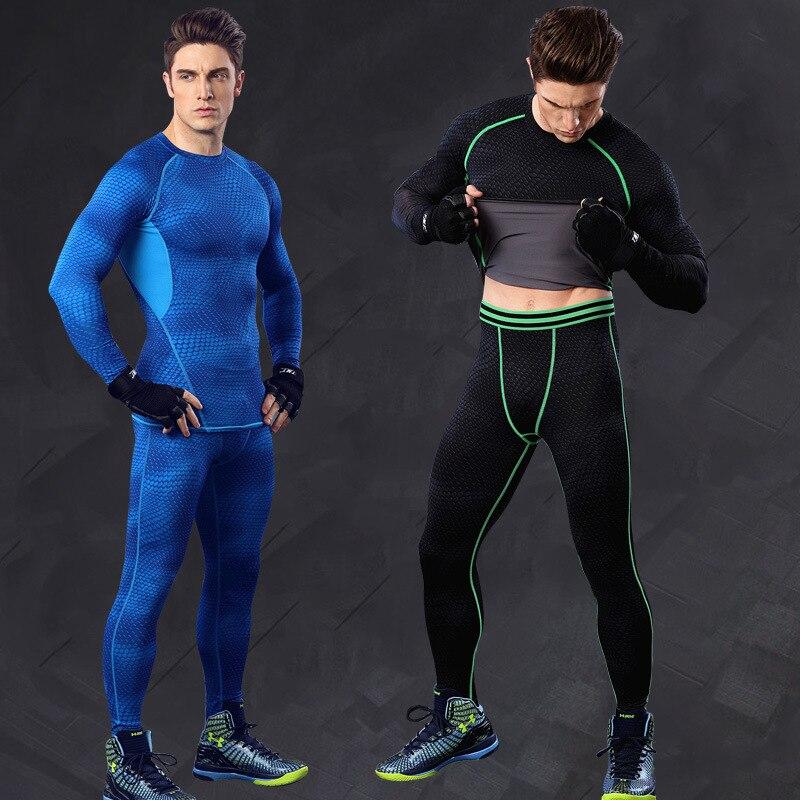 Compression Leggings Shorts Pants Set Mens Compression Base Layer Top Skin Fit