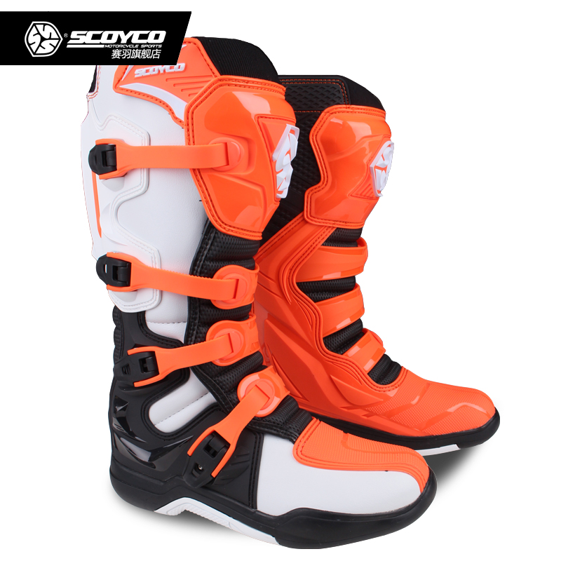 SCOYCO Off road Long Racing gear Boots Motocross Motorbike Riding Long Knee High Shoes Heavy Protective Gear boots MBM003-in Motocycle Boots from Automobiles & Motorcycles    2