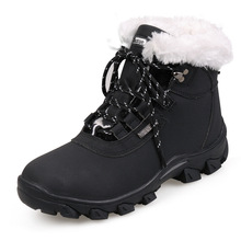 2016 Winter Add villi warm Women Casual Shoes Outdoor Waterproof Snow Boots non-slip wear-resisting flat Shoes Woman Black white
