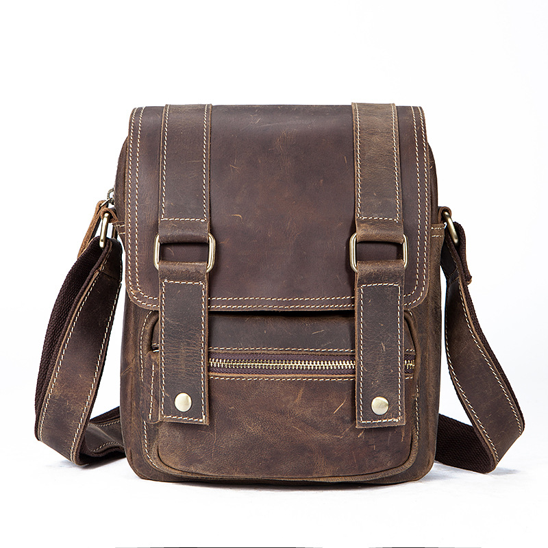 Retro Genuine Leather Men Shoulder Bag 100% High Quality Leather Crossbady Bag New Fashion Men Business Briefcase Shoulder Bag 2016 new retro 100