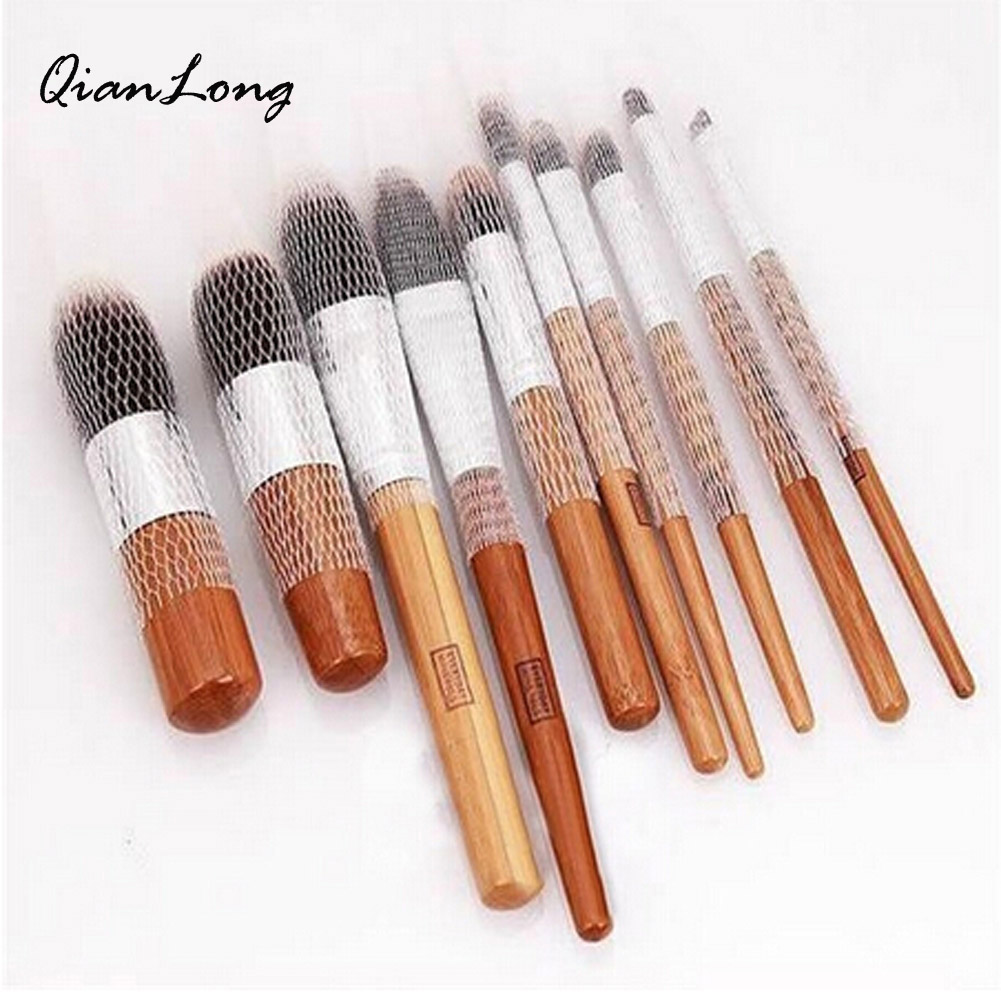 10 PCS Hot Selling White Make Up Cosmetic Brushes Guards Most Mesh Protectors Cover Sheath Net Without Brush 100 pcs make up brush pen netting cover mesh sheath protectors guards protective cover sheath net white
