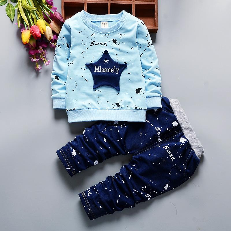 New 2018 Spring Boys Clothes 1 2 3 4 Year Casual Cotton Children Clothing Set Long Sleeve Shirts Pants Kids Suits for Boy 2017 new boys clothing set camouflage 3 9t boy sports suits kids clothes suit cotton boys tracksuit teenage costume long sleeve