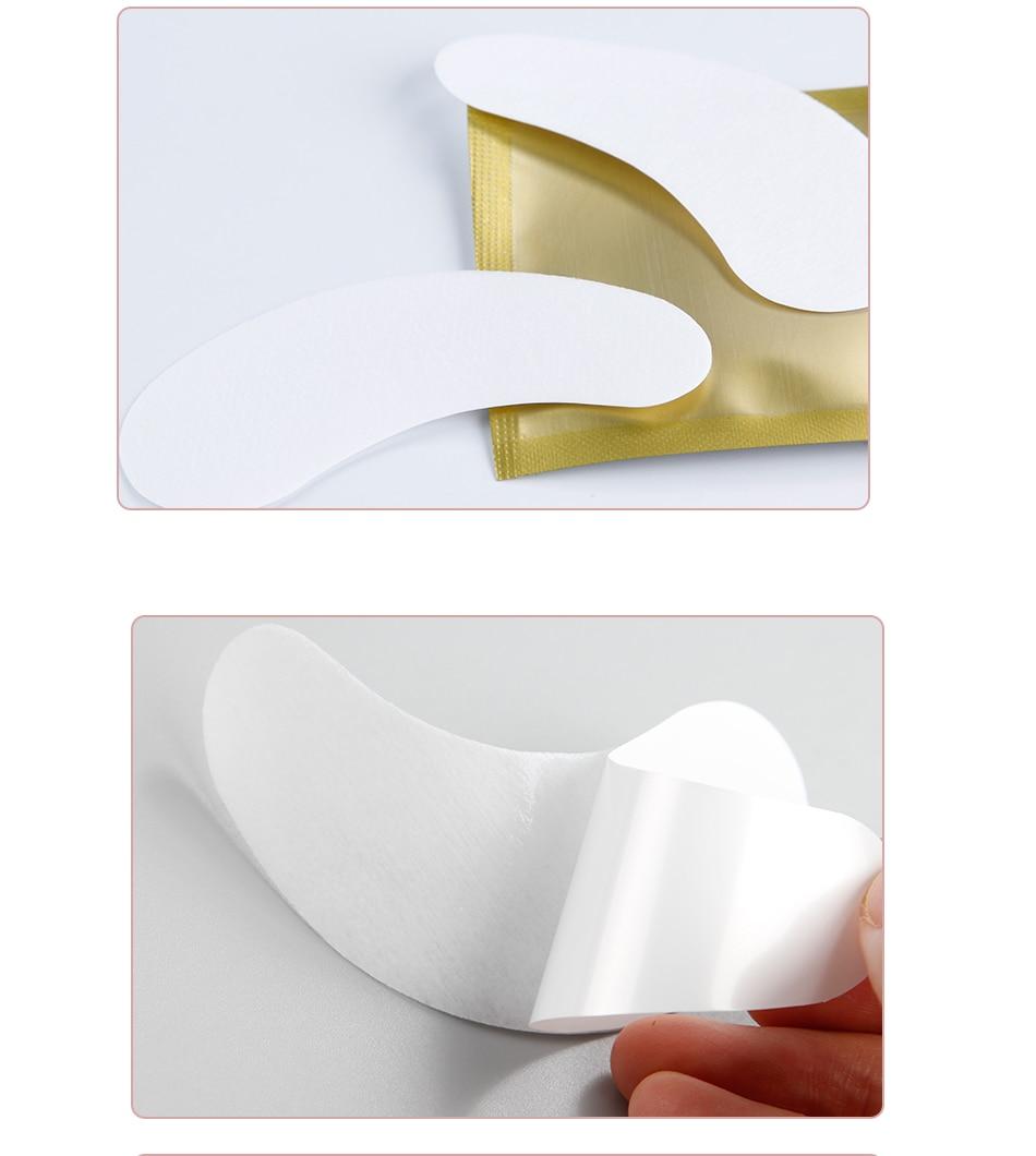 200/400 пар накладных ресниц, бумажные накладки, накладки под ресницы, принадлежности для наращивания ресниц, инструменты для макияжа, наклейки
