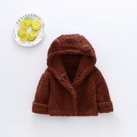 Winter Baby Boys Girls Bear Coat Children Outerwear Kids Cotton Thick Warm Hoodies Jacket 9M-4T Children's Clothing