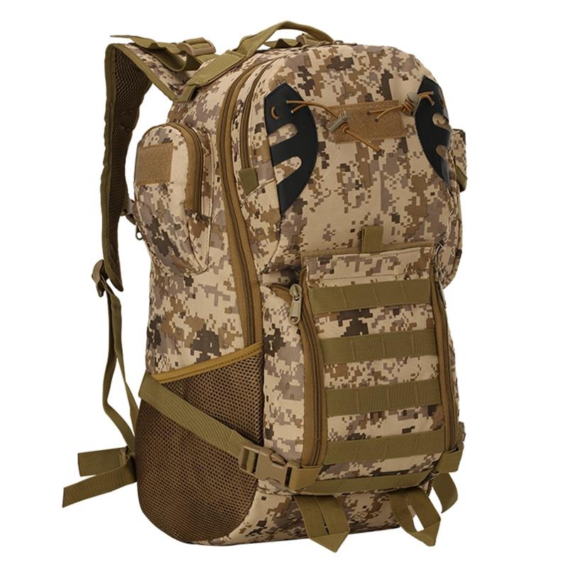 Notebook Backpack Camouflage Waterproof CS Mountaineering Package 35L Canvas Backpacks Sac A Dos Randonnee BPK153