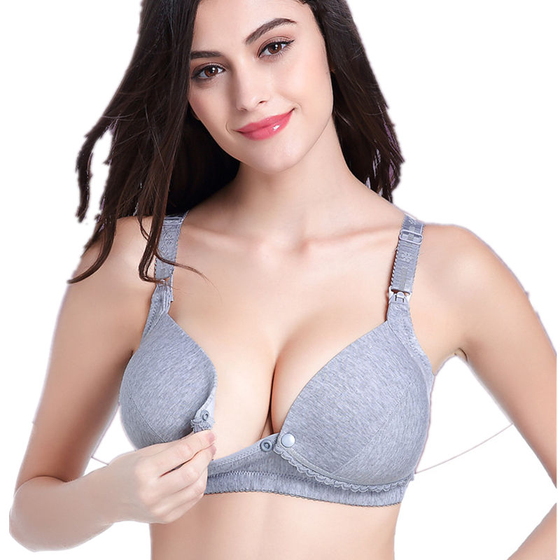 Maternity Women Bras Nursing Bra Cotton Front Button Bra For Pregnant Women Breast Feeding Underwear Breastfeeding