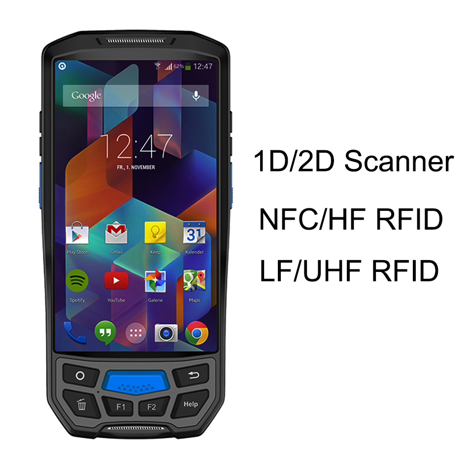 Rugged PDA Terminal Handheld Android 7.0 Bluetooth Bar code Reader Scanner 1D 2D QR 4800mAh Battery Portable Pos Terminal PDA цена 2017