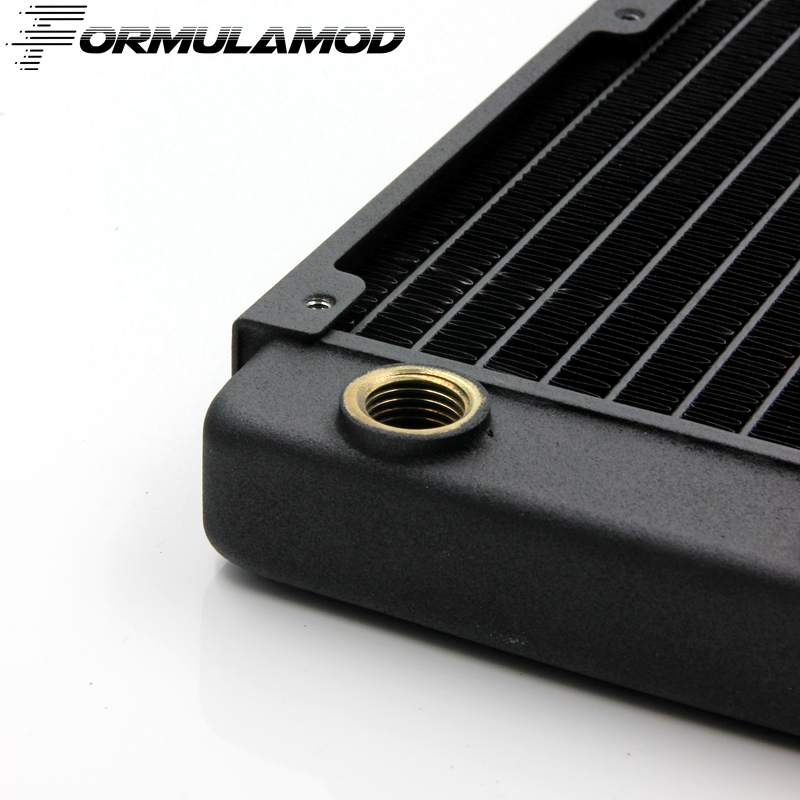 FormulaMod 120/240/360/480mm copper computer water discharge liquid heat exchanger threaded thread radiator for 12cm fan