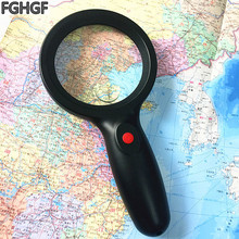 лучшая цена FGHGF OK98 LED Light Magnifier 5X/15X Times Repair Tool Handheld Magnifier Survival Outdoors Reading Collection Student Science
