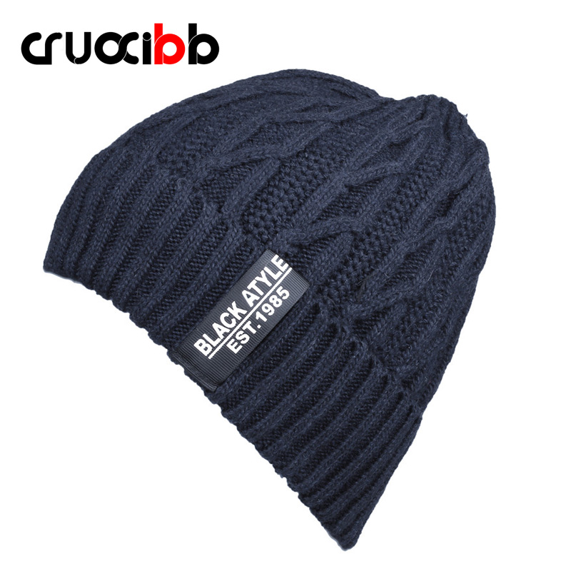 Men's Winter Hat Letter Beanies Men Wool Warm Skullies Women Knit Hat Ski Cap Casual Winter Caps Snow Hats High Quality Flexible autumn and winter letter hat skullies beanies wool knitted hats for women ski cap men sport acrylic hat rx120