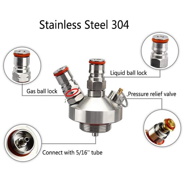 Stainless Steel Mini Keg Tap Dispenser with 12'' Beer Hose 2