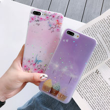цена Glossy Case For iPhone 7 Plus X XS XR Xs 8Plus Case Soft TPU Glitter Cover For iPhone 6 Plus 6s PLus 6 Cases Dirt-resistant