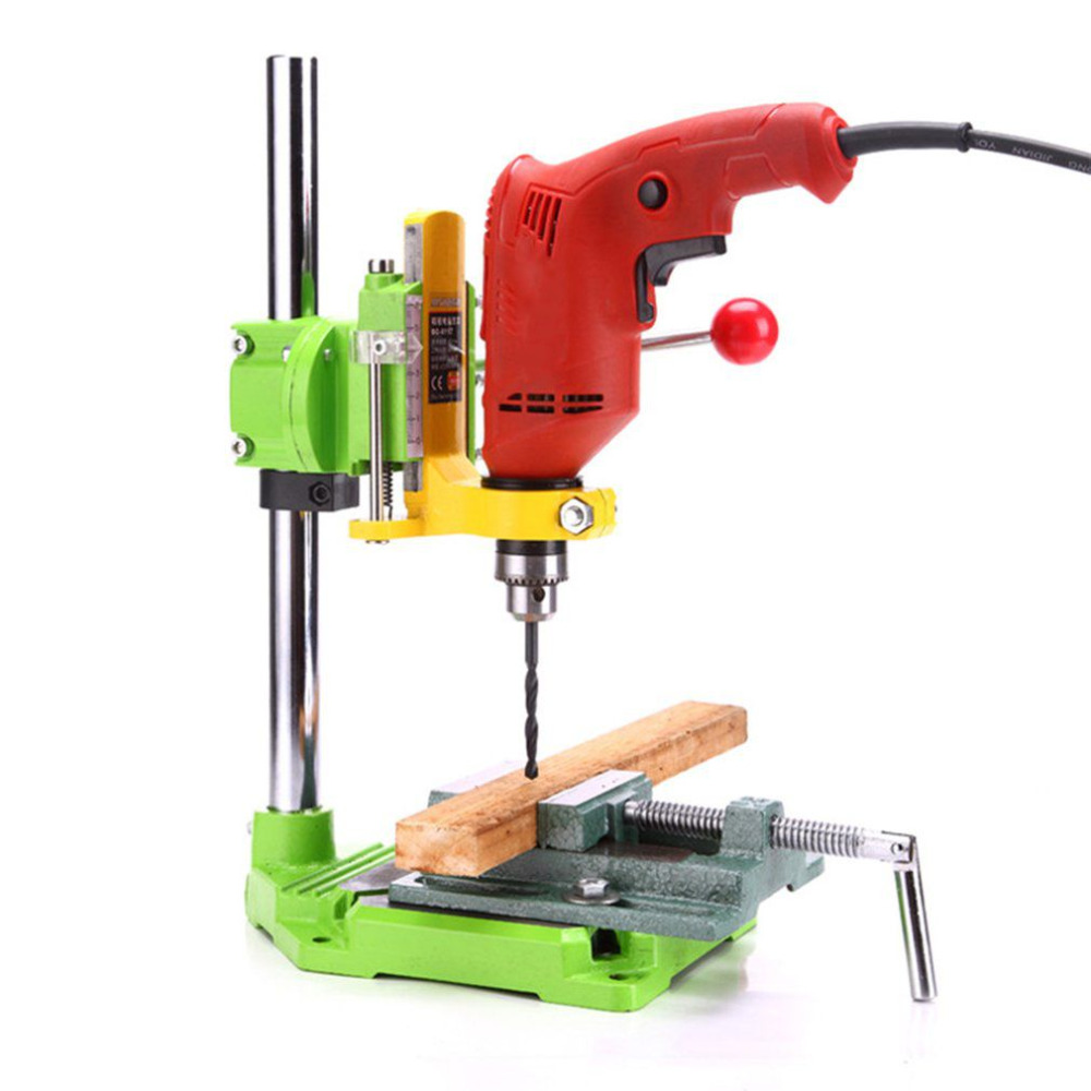 2018 New Electric Power Drill Press Stand Table Adjustable Workbench Repair Tool Clamp Drilling Collet Table