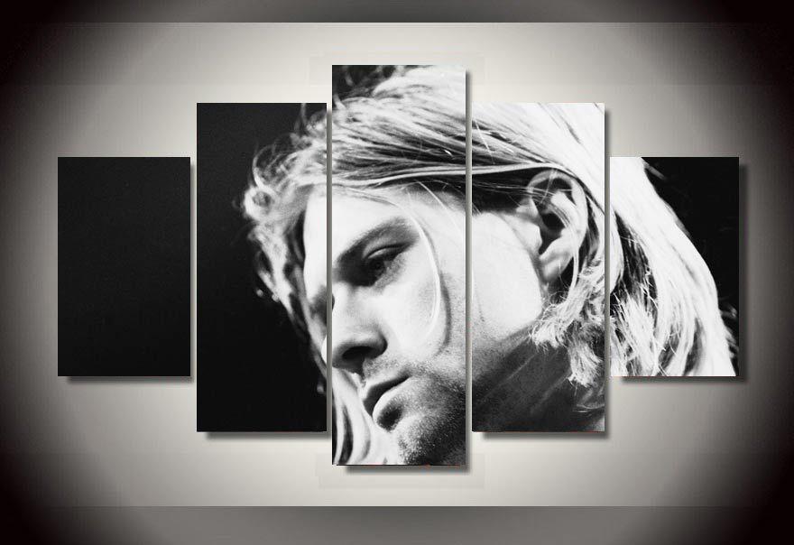 5 Pieces Famous Rock Singer Kurt Cobain Poster Modern Home Wall ...