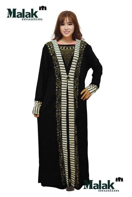 Caftán Paño Ocasional Promoción de Venta Caliente Adulto Algodón Ninguno Turco Abaya Jilbabs Y Abayas 2016 Musulmán Vestido Túnica Diamante