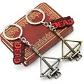Hot movie The Walking Dead chaveiro Keychain Daryl Dixon crossbow Logo  Metal pendant keyring key chain key ring jewelry