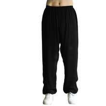 2017 Summer Fitness Lightweight pants men Cotton Elastic Waist Clothes Full Length Loose