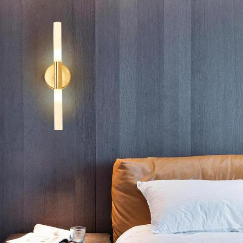 Living room Long Led  Sconces wall lamp Hallway mirror gold Led picture lights  modern Corridor indoor wall fixtures Arandela american iron wall lamp white black fabric lampshade wall sconces fixture stairway living room hallway bedroom wall light wl281