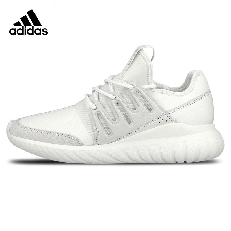 Adidas Clover TUBULAR RADIAL Men Running Shoes , Original Sports Outdoor Sneakers Shoes ,White, Breathable AQ 6722 EUR Size M