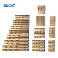 99pcs Titanium HSS Drill Bits Coated 1 5mm 10mm Stainless Steel HSS High Speed Drill Bit